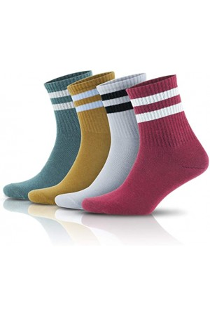 Çizgili Kısa Tenis Çorabı