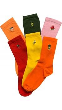 Meyve Nakışlı Bayan Soket Çorap
