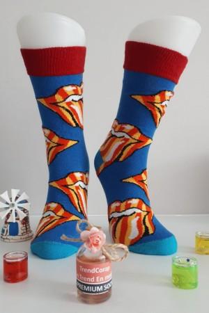 Sara Donna Kolej Soket Çorap Desen-1