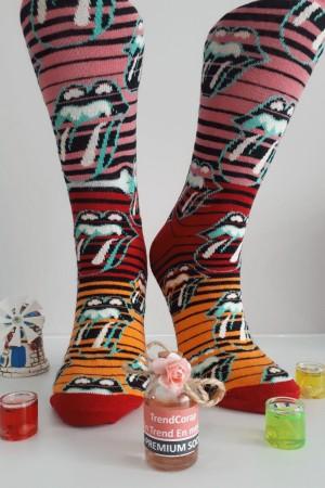 Sara Donna Kolej Soket Çorap Desen-2