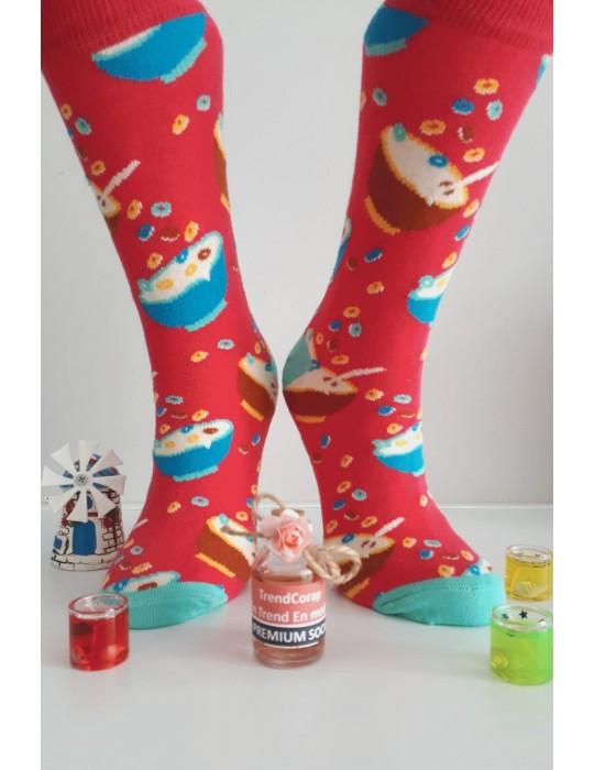 Sara Donna Kolej Soket Çorap Desen-4
