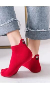 Emoji Nakışlı Bayan Patik Çorap